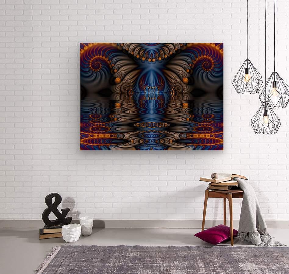 Blue Flame  Wood print