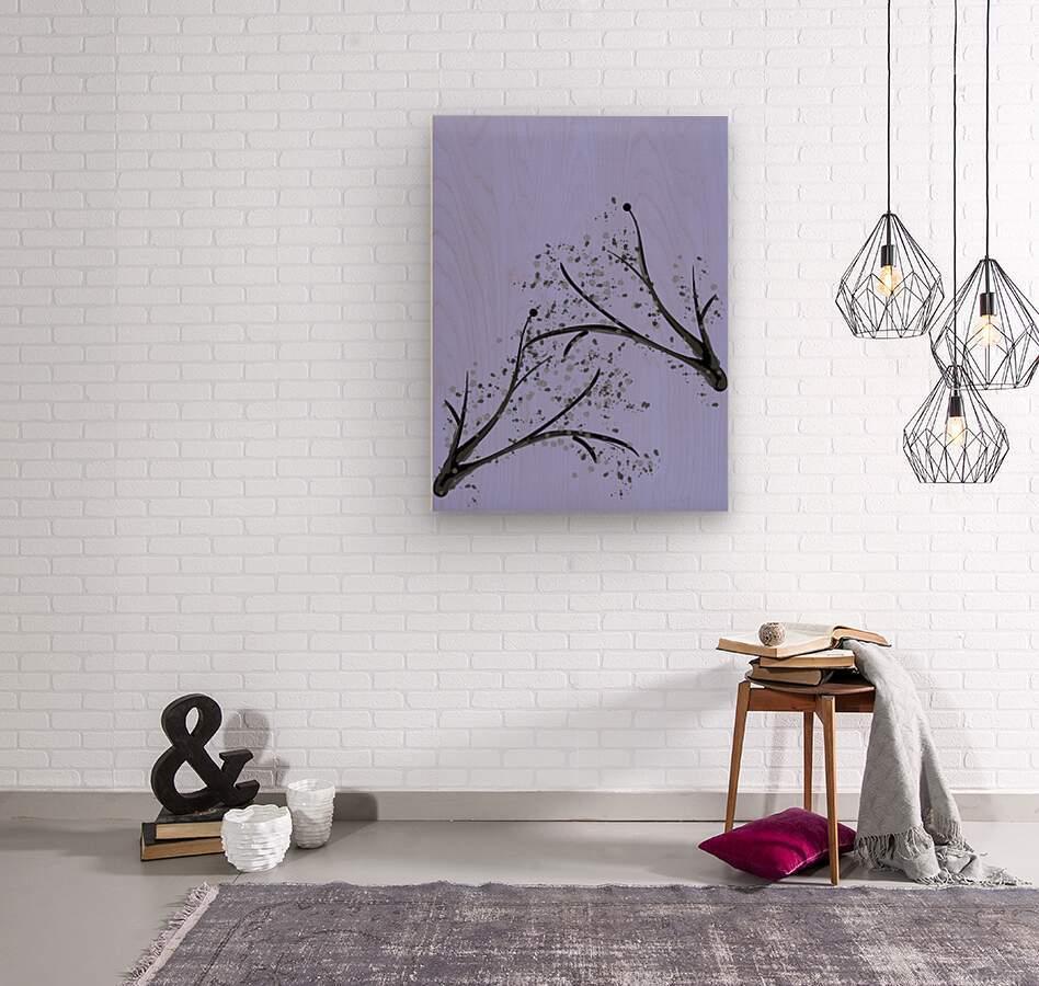 watercolor tree  Wood print