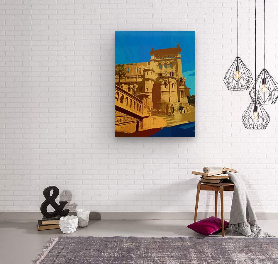 Dreams of Cannes France in Retro Behemian Style  Wood print