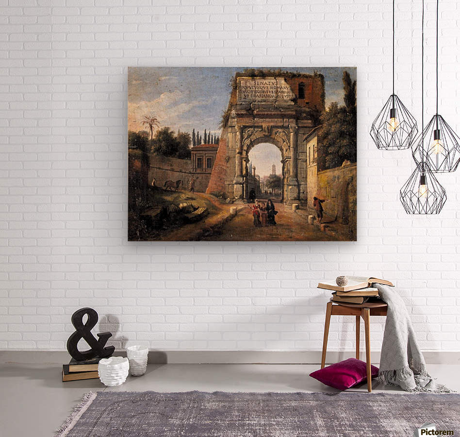 View of the Arch of Titus  Wood print