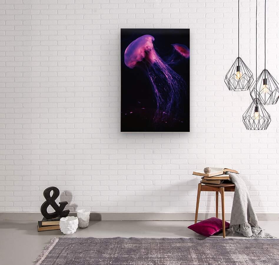 Neon Jelly  Wood print