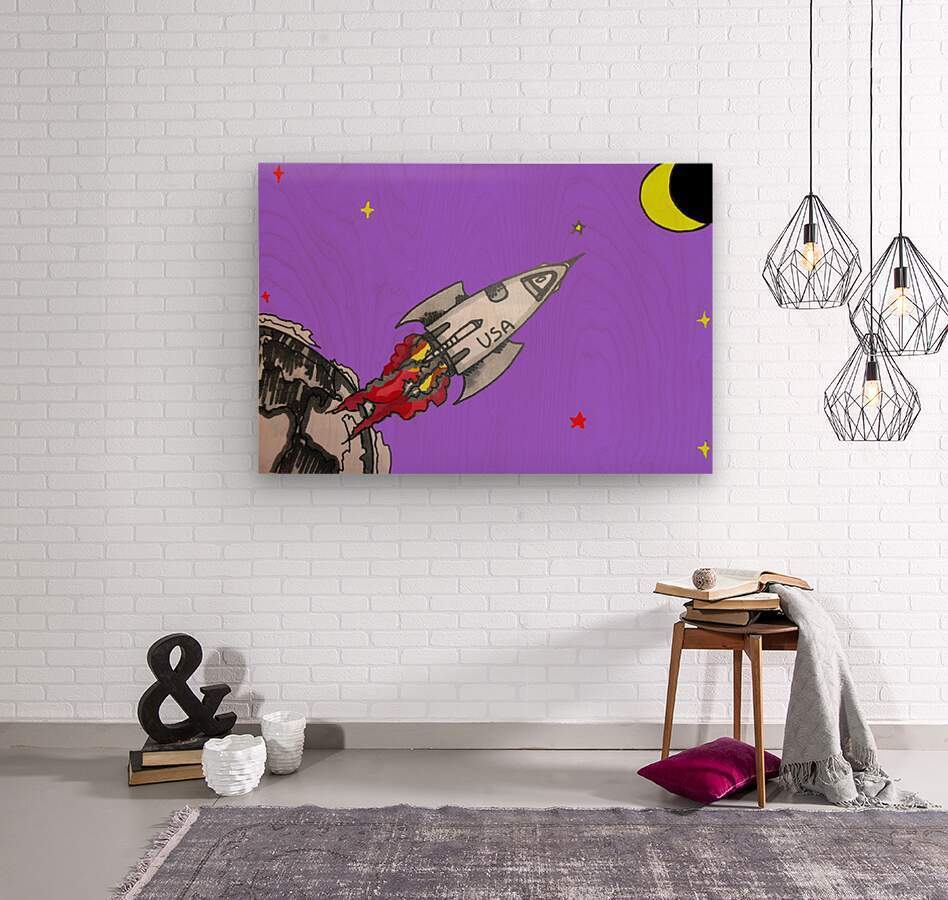 HAVE SPACE SHIP WILL TRAVEL  Wood print