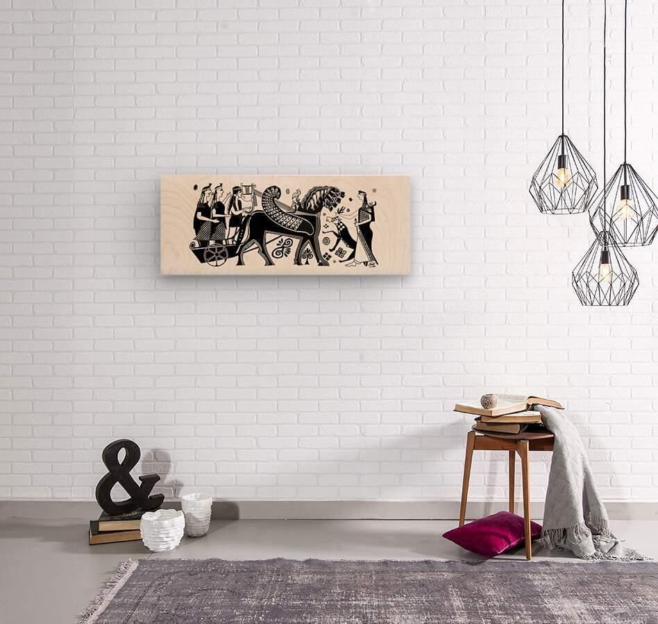 Apollo and Artemis  Wood print