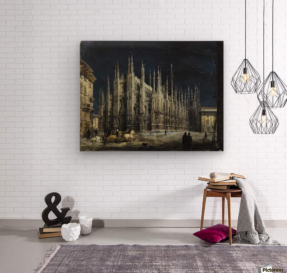 Notturno di Piazza del Duomo a Milano  Wood print