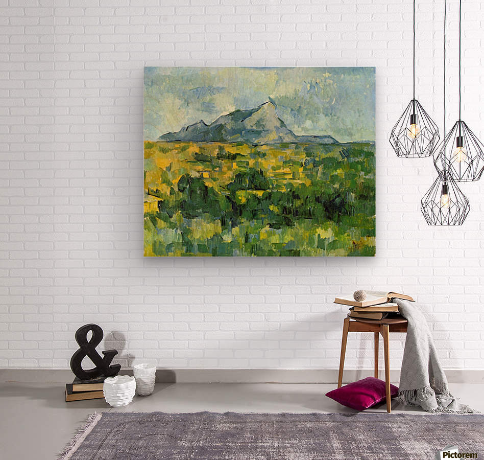 Mount St. Victiore by Cezanne  Wood print