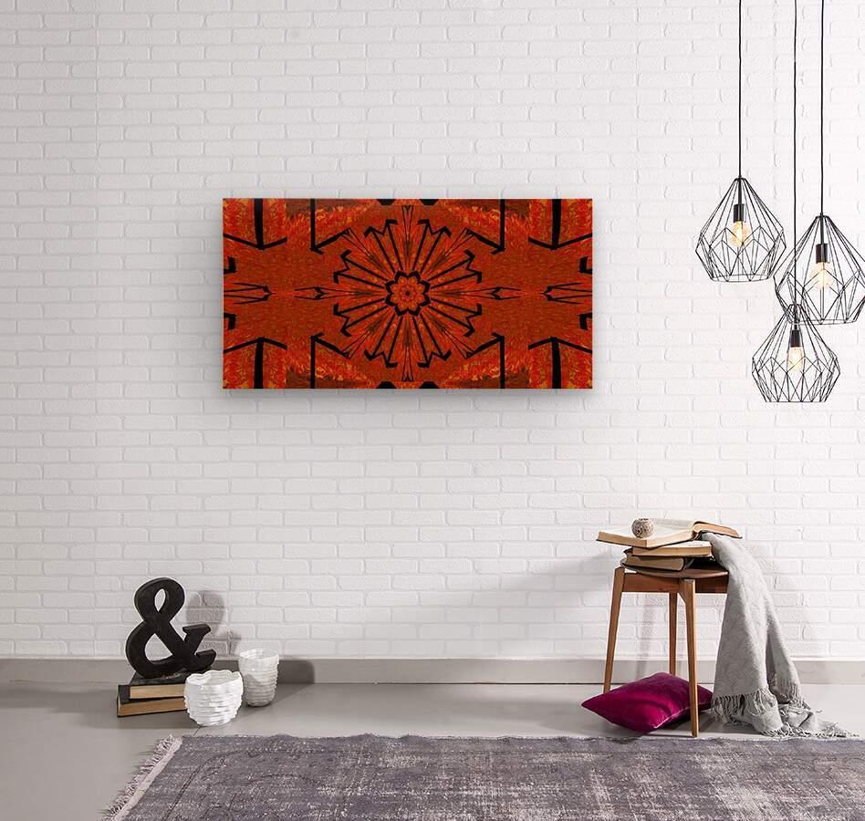 Lotus In Flames 1  Wood print