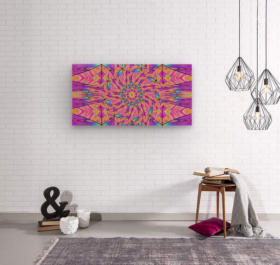 Lotus In Glass 2  Wood print