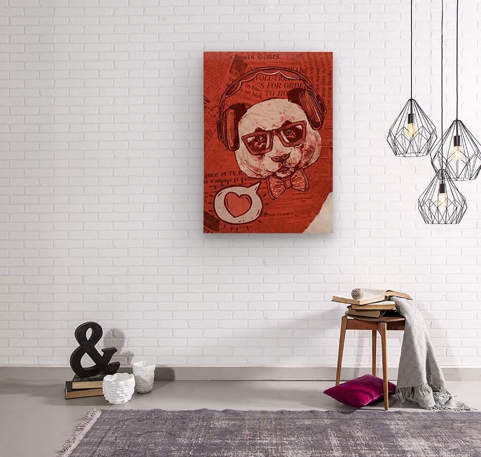 Cool Panda  Wood print