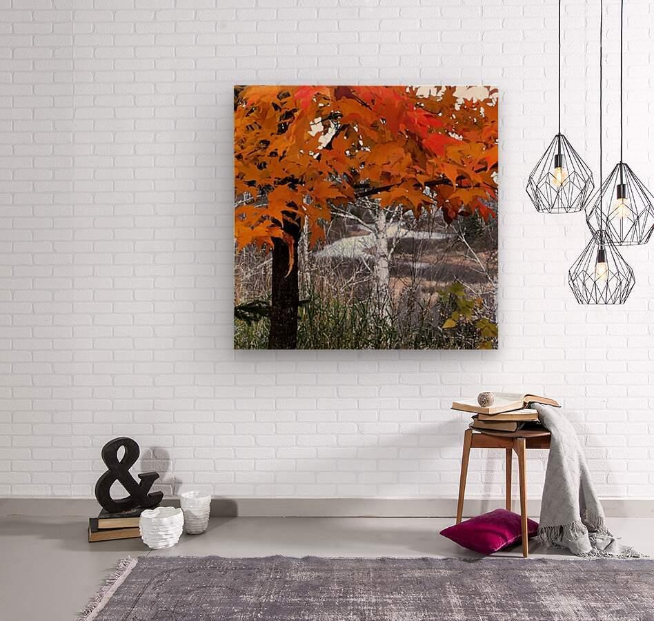 Autumn at Lake Superior  Wood print