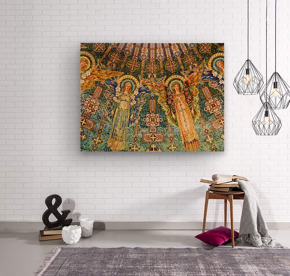 mosaic angels  Wood print