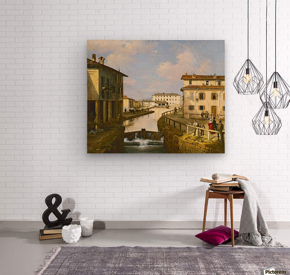 Il Naviglio dal ponte di San Marco  Wood print