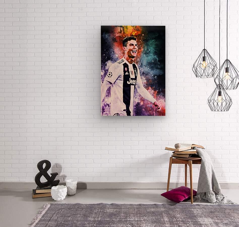 Cristiano Ronaldo  Wood print