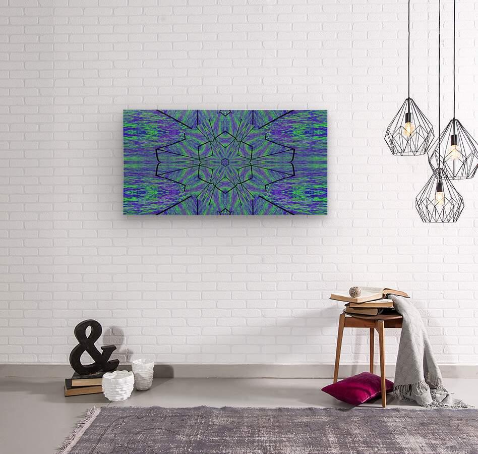 Light Of The Blue Moon Lotus  Wood print