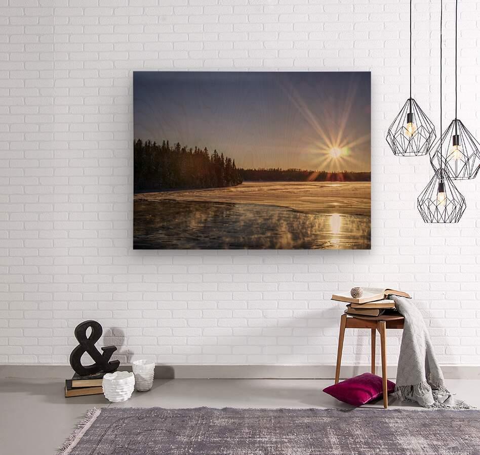 lac Sebastien  Wood print