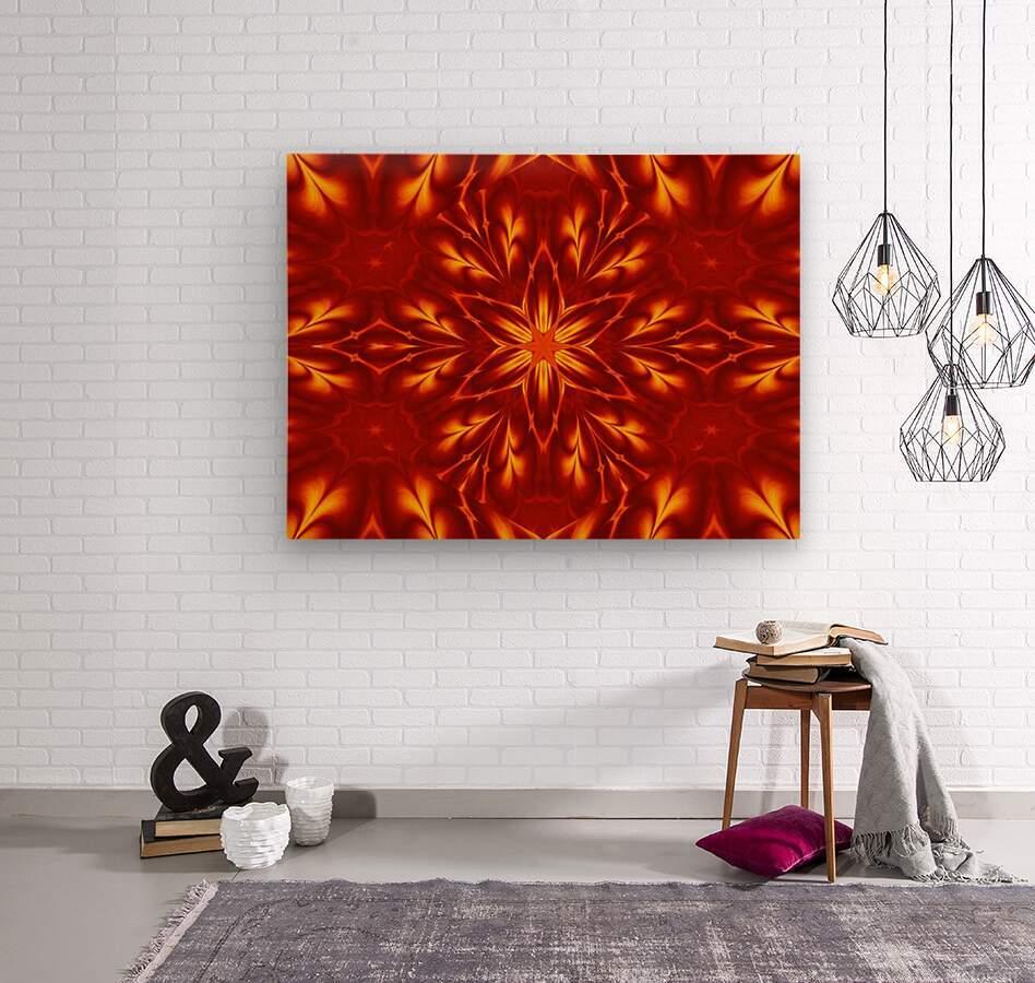 Fire Flowers 9  Wood print