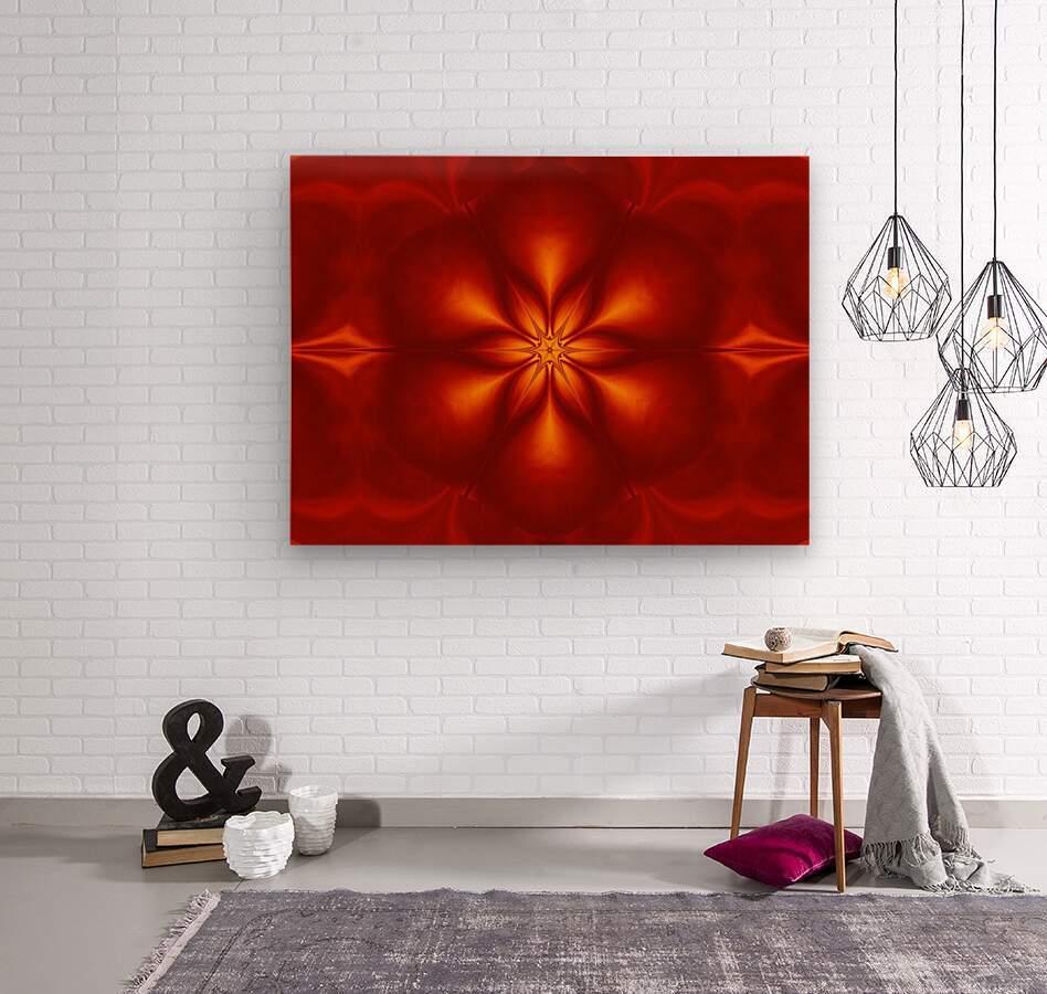 Fire Flowers 10  Wood print