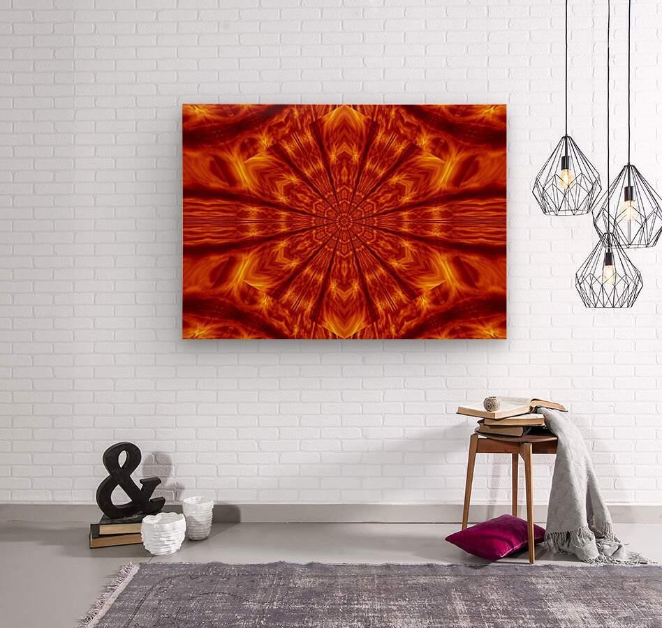 Fire Flowers 56  Wood print