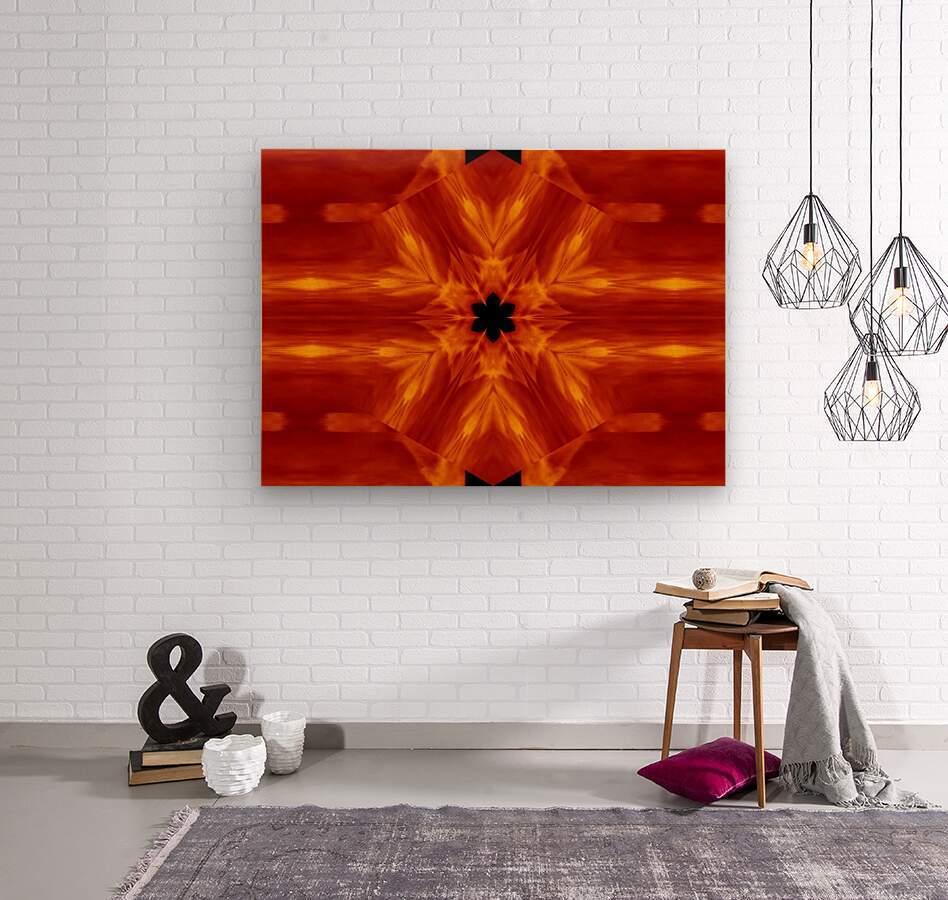 Fire Flowers 62  Wood print