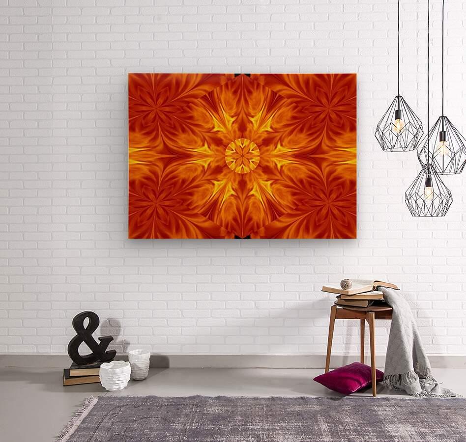 Fire Flowers 69  Wood print