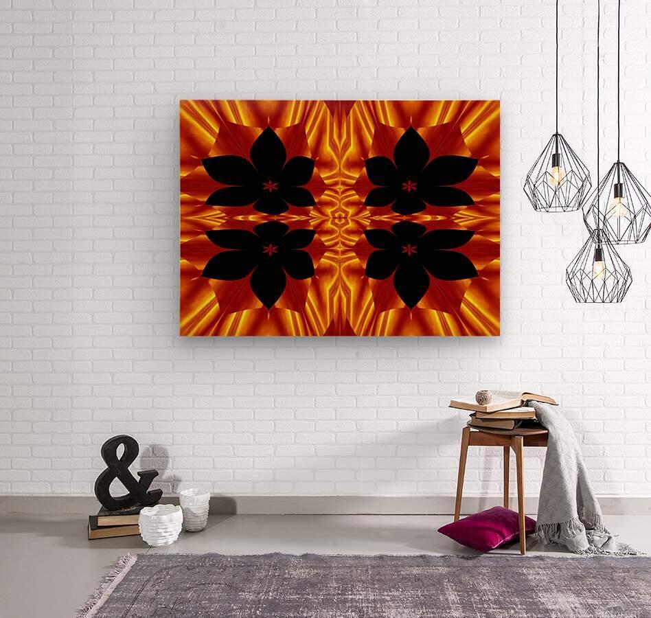 Fire Flowers 89  Wood print