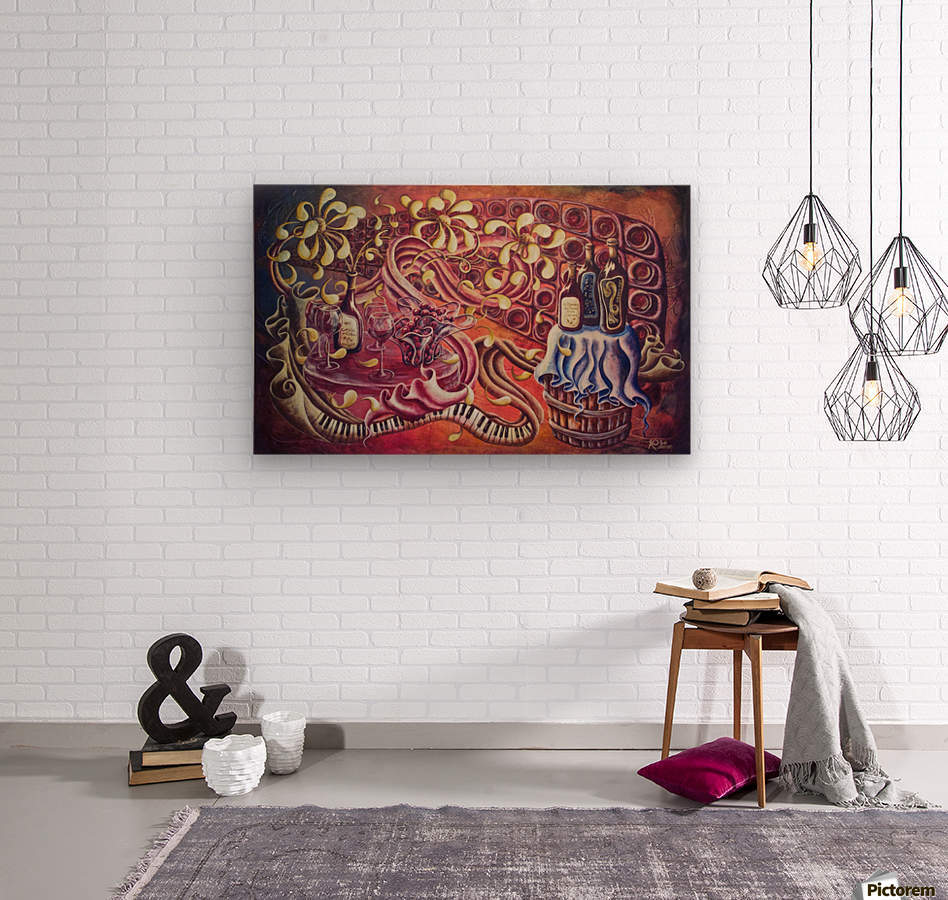 Party night (Nuit blanche)  Wood print