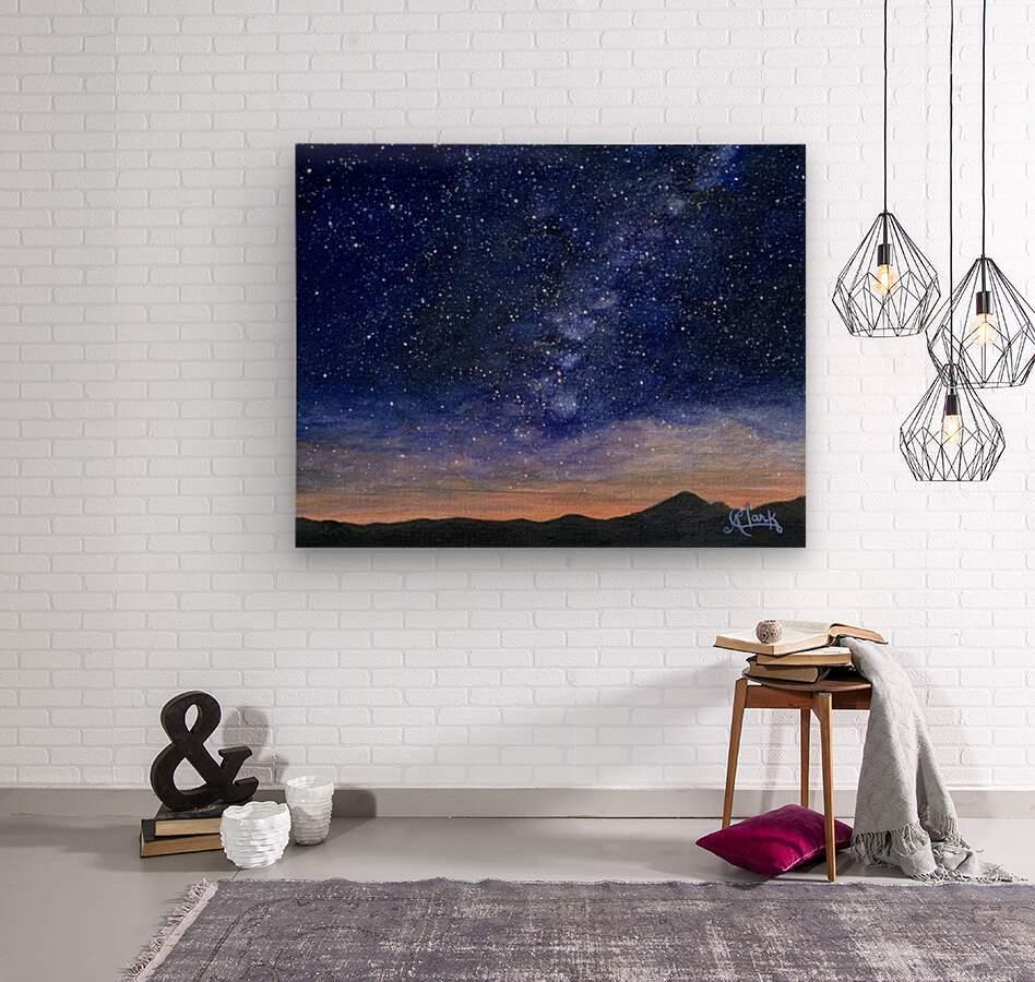 Stargazer  Wood print
