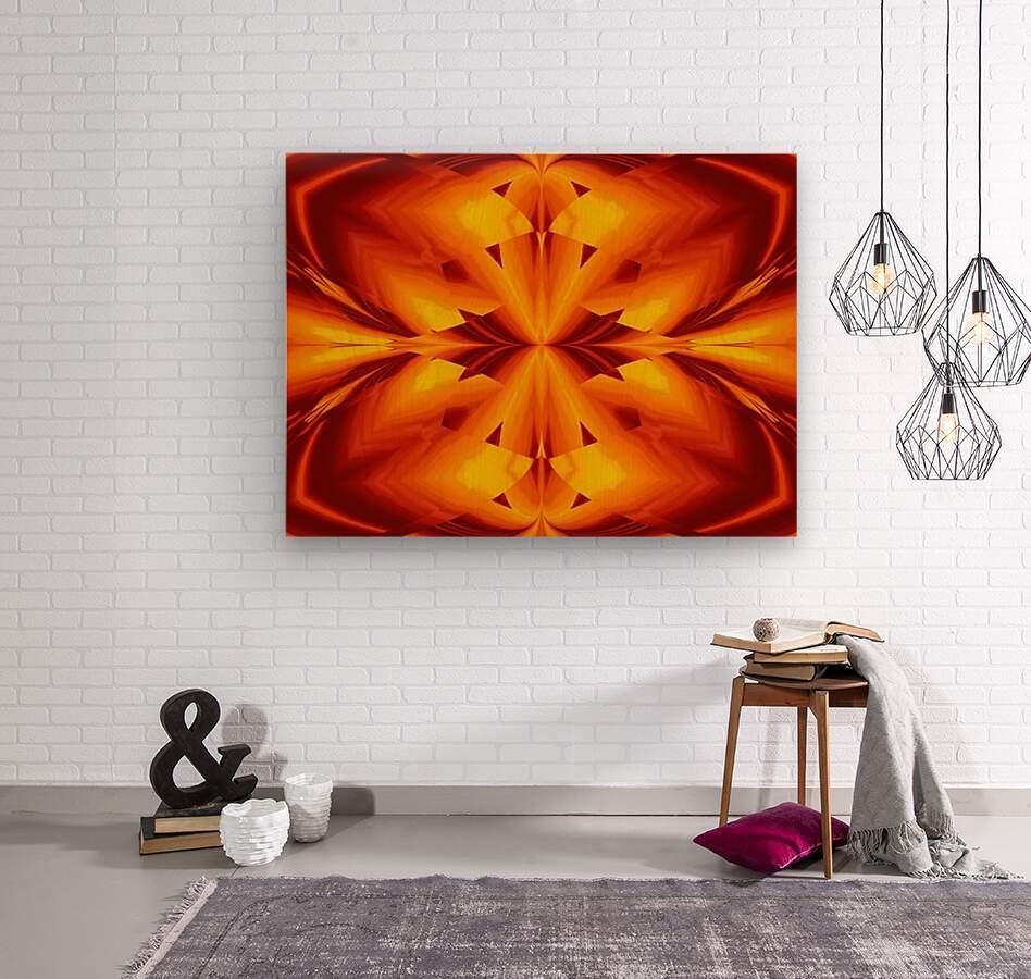 Fire Flowers 109  Wood print