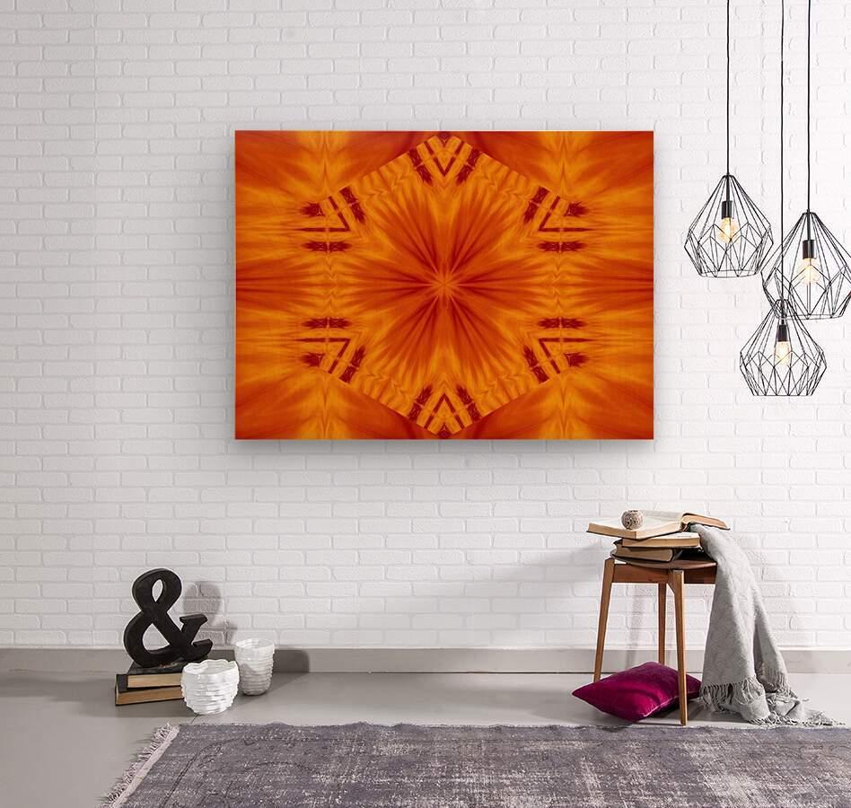 Fire Flowers 121  Wood print