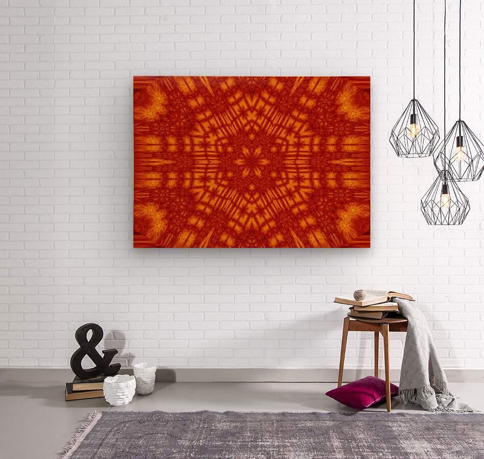 Fire Flowers 146  Wood print