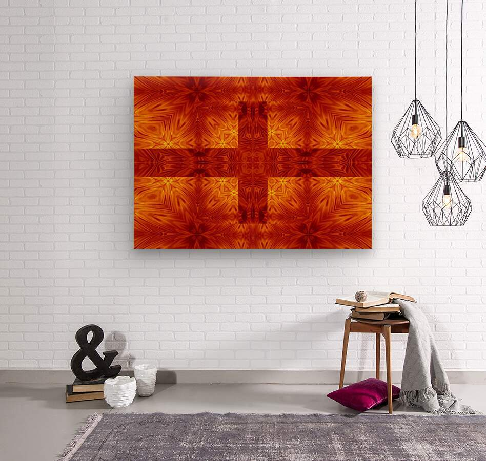 Fire Flowers 151  Wood print