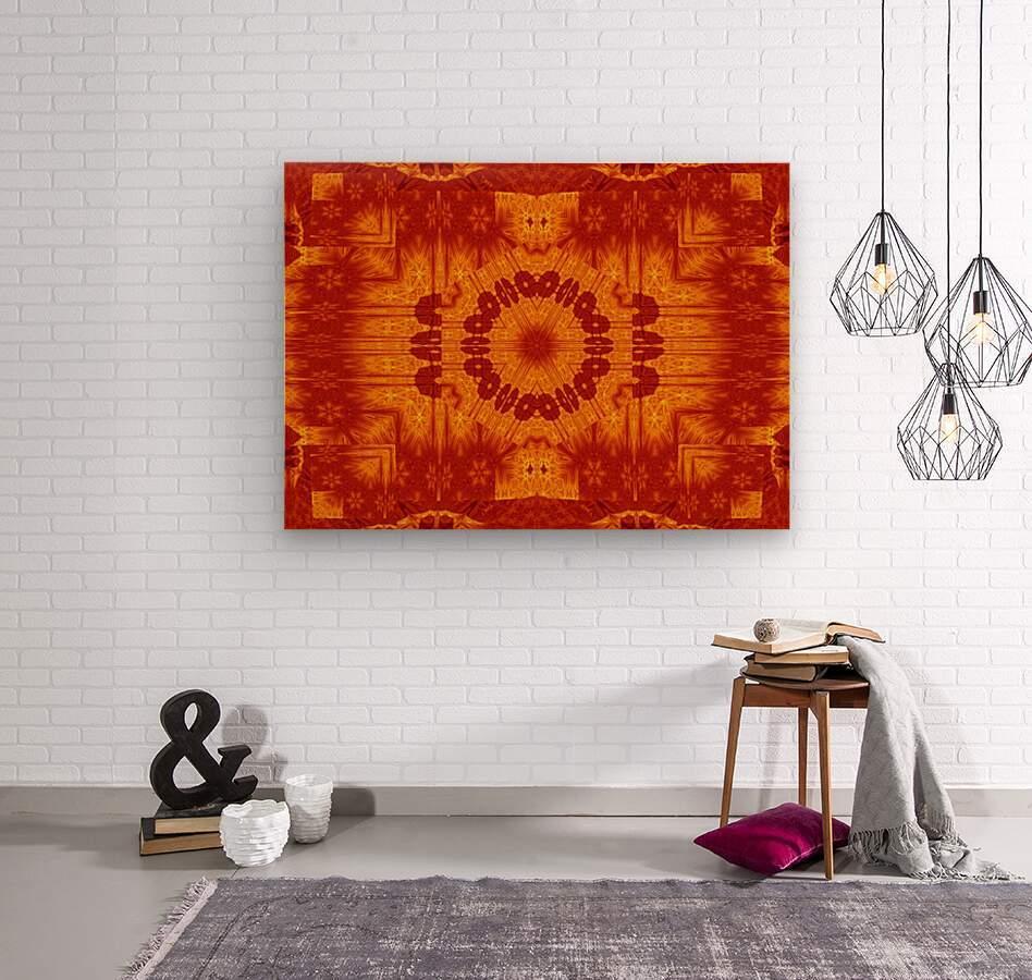 Fire Flowers 154  Wood print