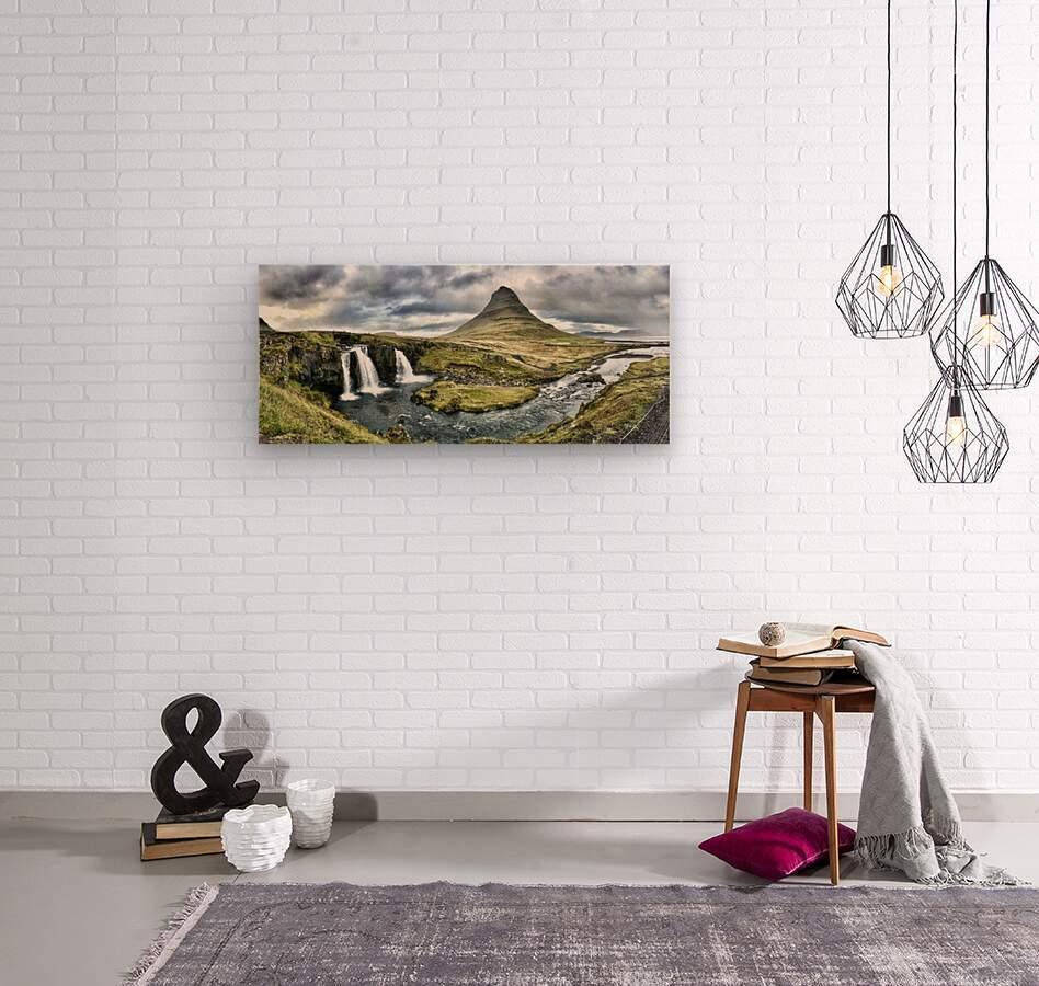 Kirkjufell  Wood print