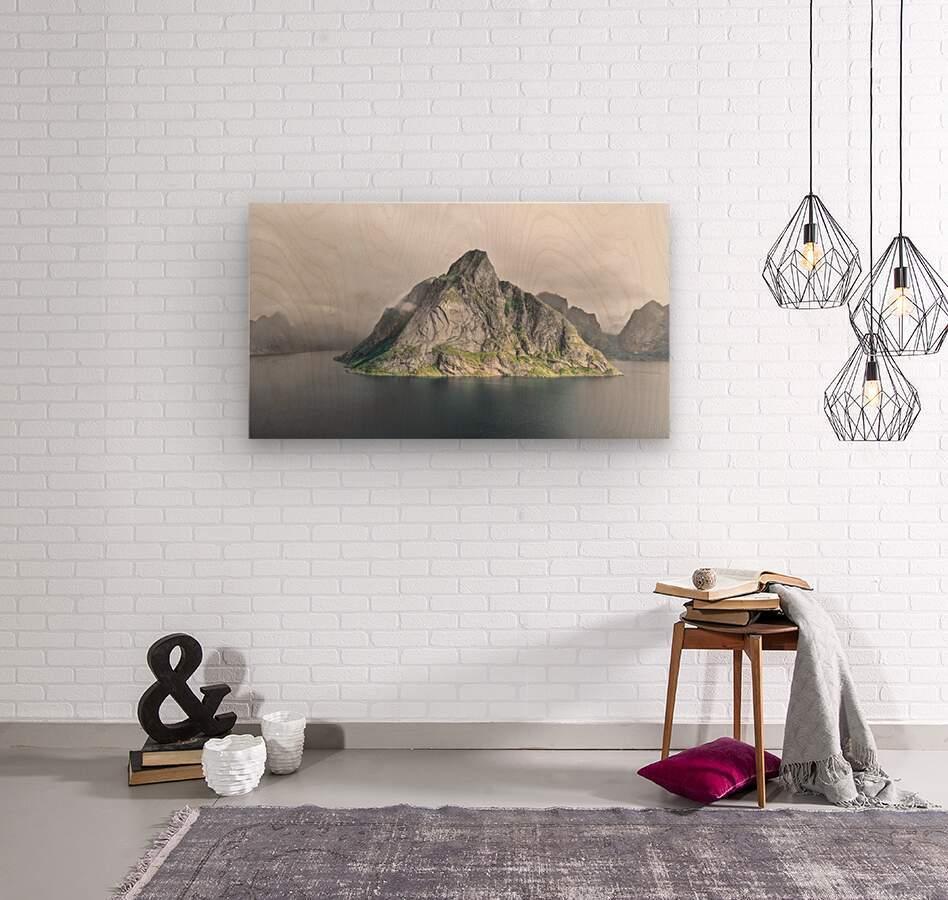 Lofoten 1 Stylized  Wood print