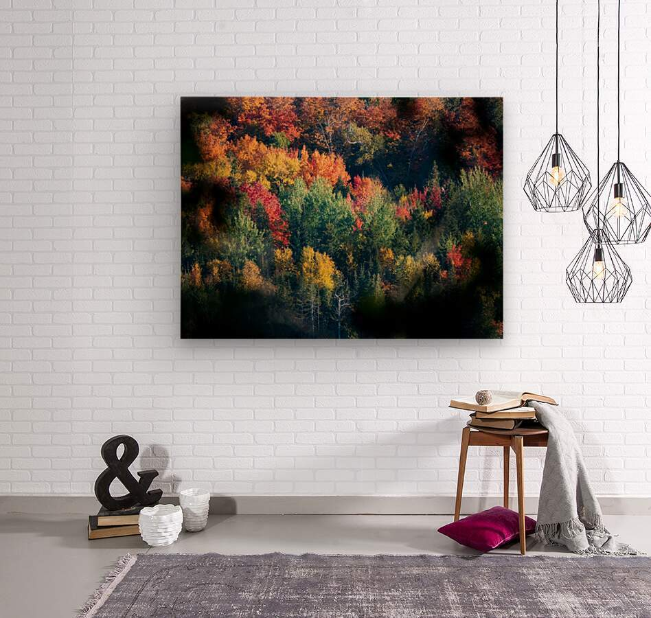 autumn abstract view  Wood print