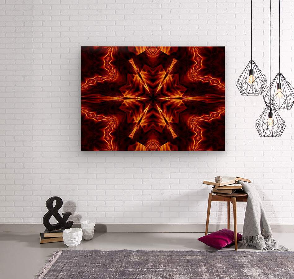 Eternal Flame Flowers 1  Wood print
