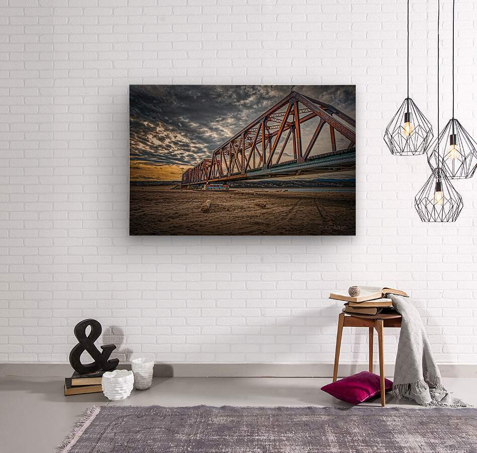 Pont de fer Haldimand  Wood print
