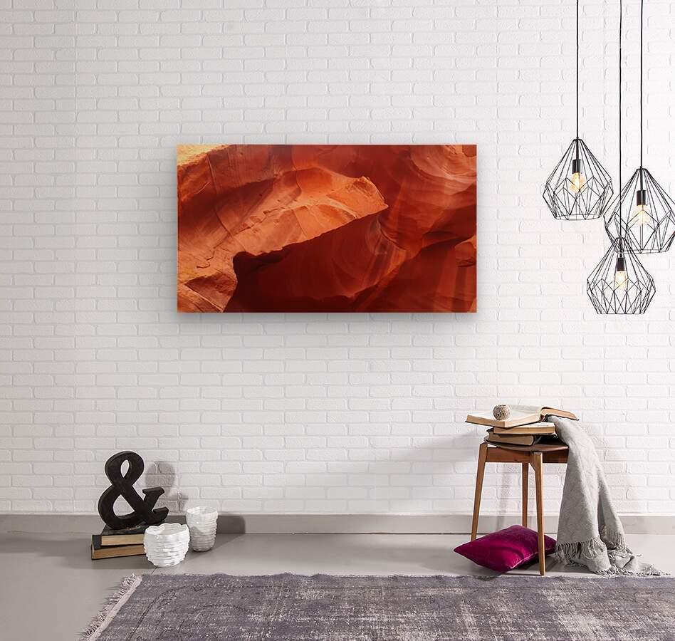Eroded Wall of Antelope Canyon   Wood print