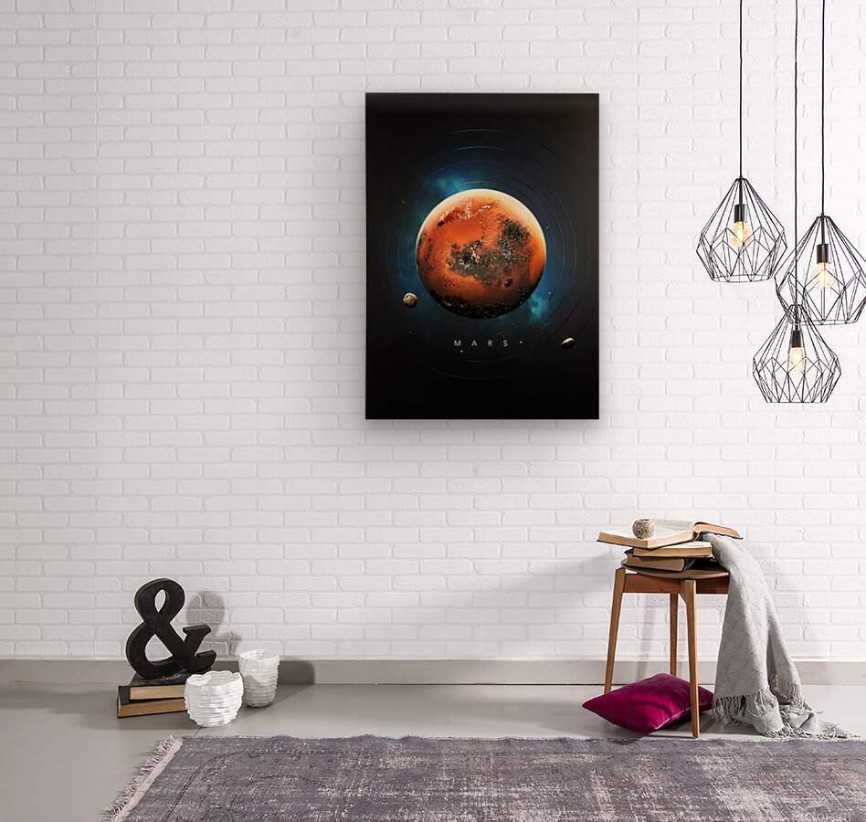 Destination Mars  Wood print