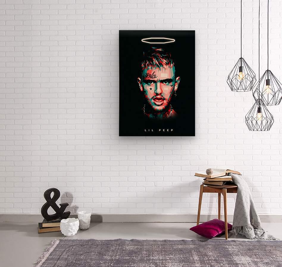 LIL PEEP  Wood print