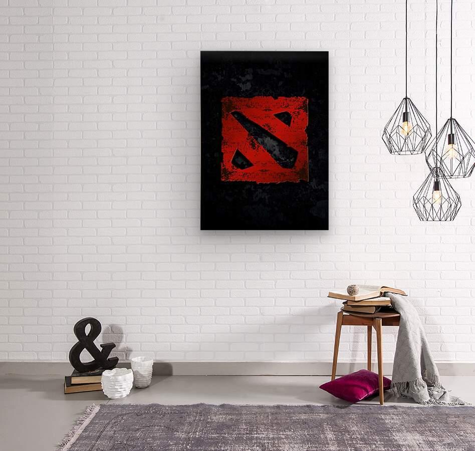 DOTA 2  Wood print