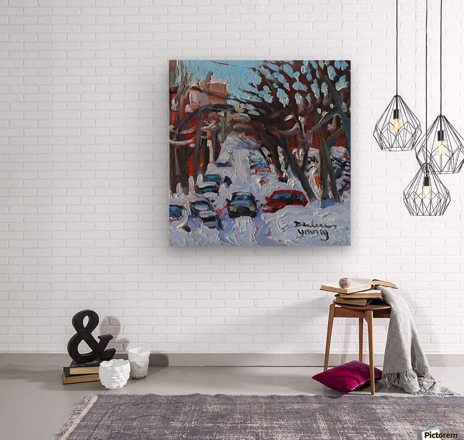 Montreal Est, Winter Scene  Wood print