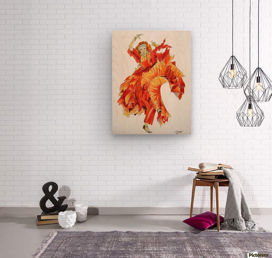 Zambra Mora  Wood print