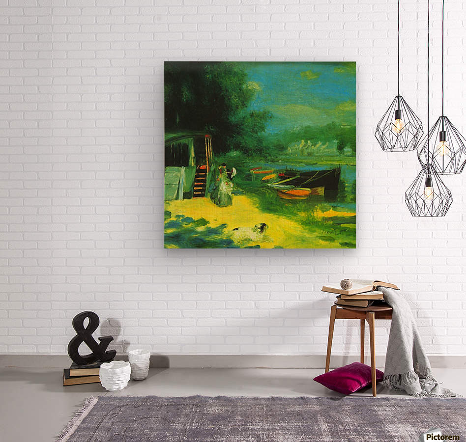 Place for Bading by Renoir  Wood print