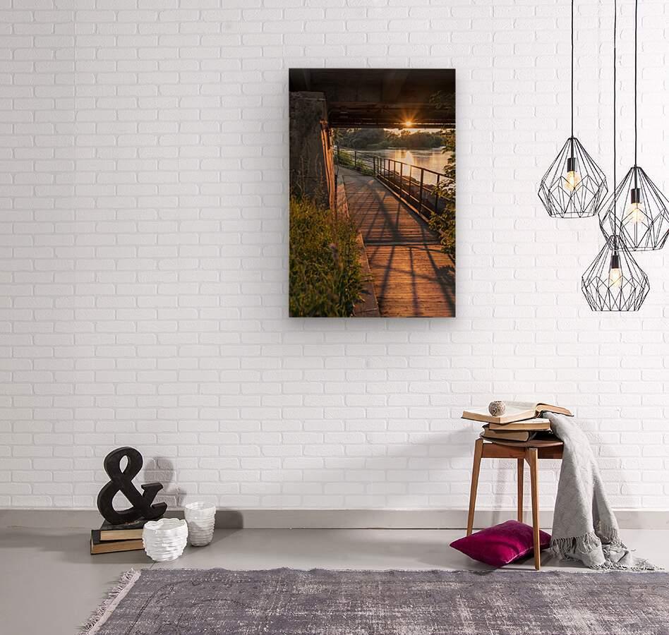 BridgeBoardwalk  Wood print