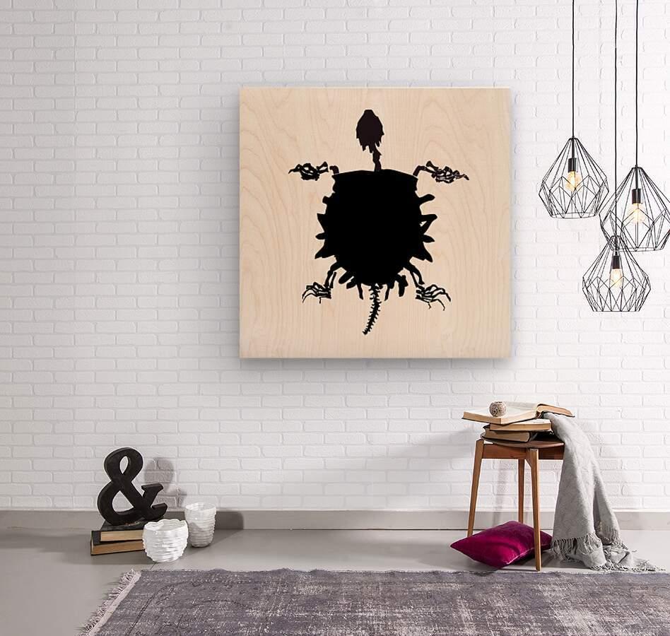 Fossil Turtle  Wood print