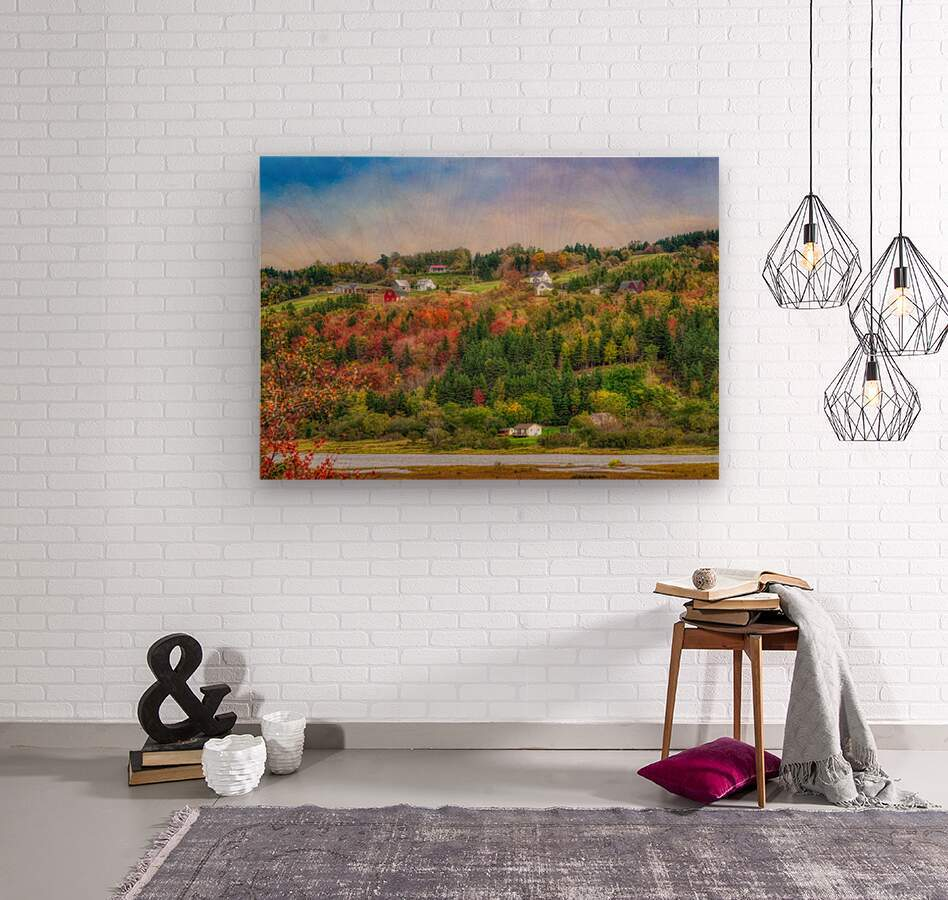 Arsenaults Hill  Wood print