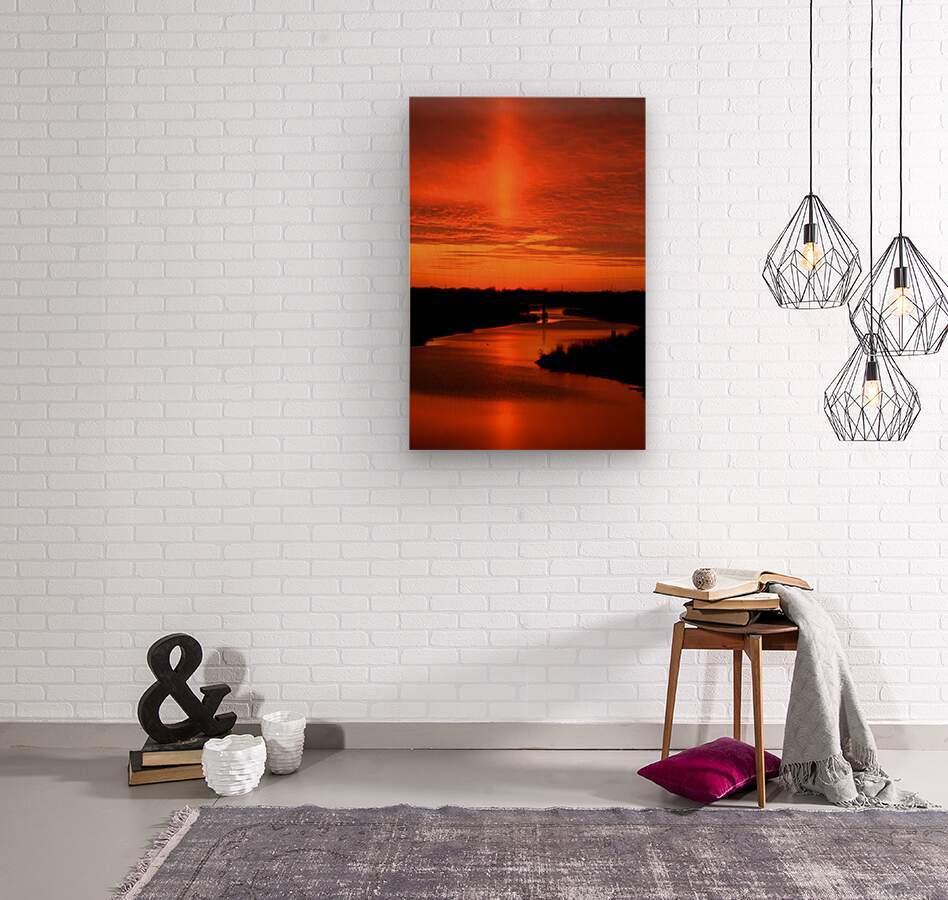 Big Ditch Sunset  Wood print