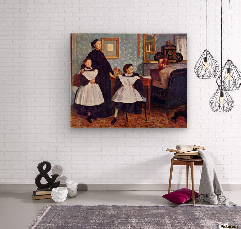 Portait of the Bellelli family by Degas  Wood print