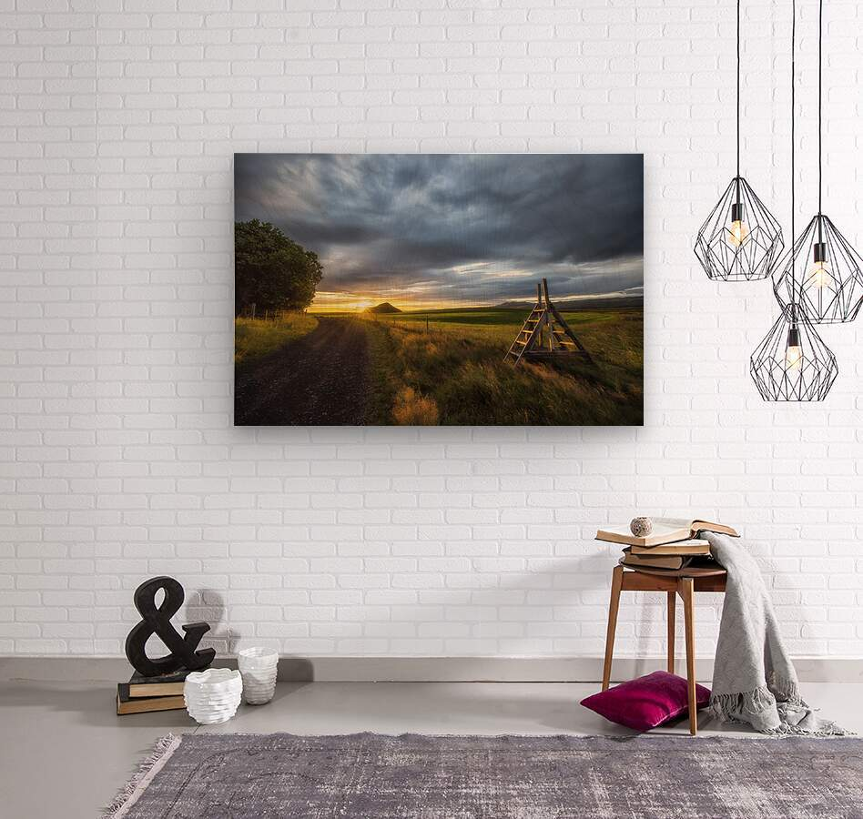 Markar Fiord Iceland  Wood print