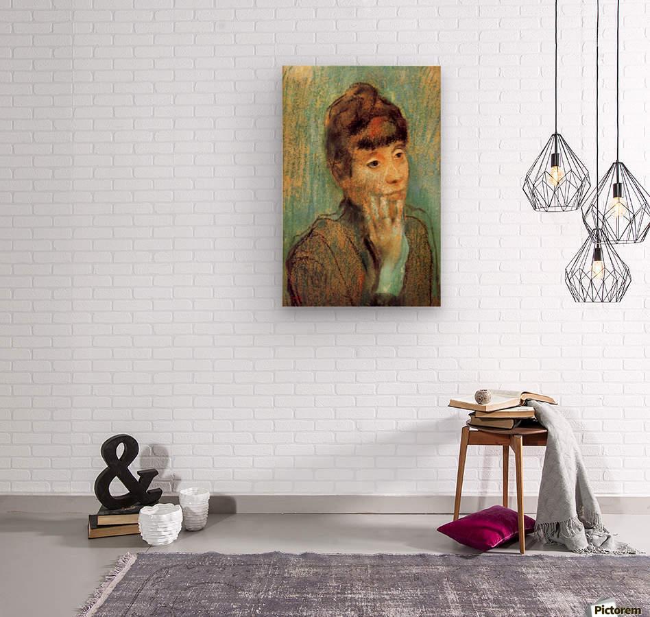 Portrait of a Lady by Degas  Wood print